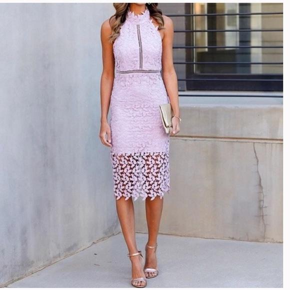 c6cbc20d Bardot Dresses | Nwt Gemma Halter Lace Sheath Dressorchid | Poshmark